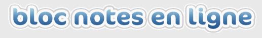 bloc note en ligne