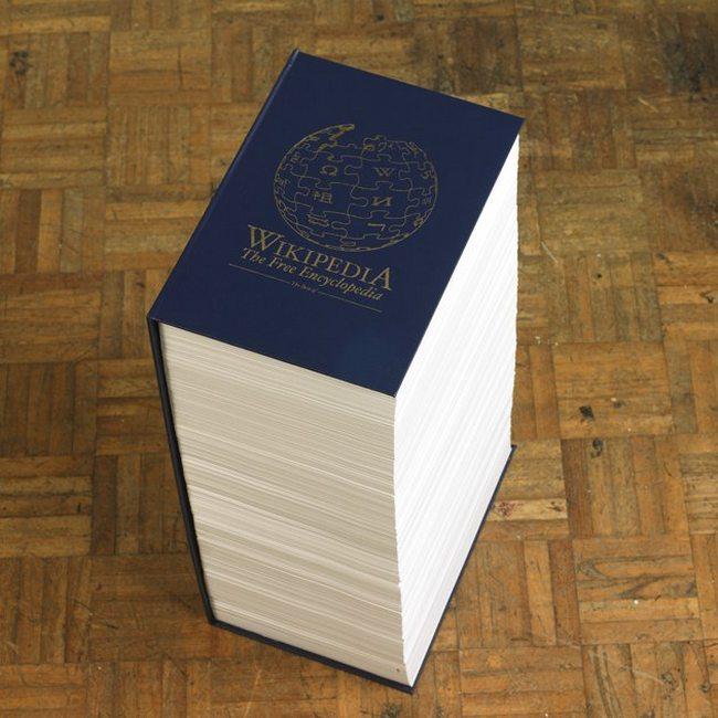 wikipedia en papier