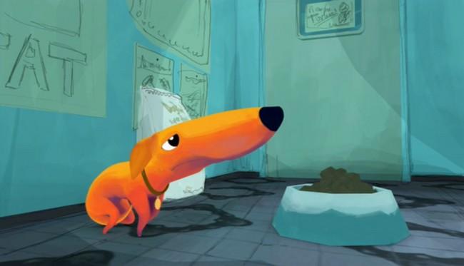 chien du boucher marre des croquettes