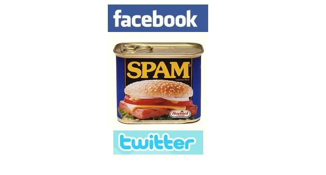 facebook twitter spam