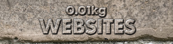 poids d'internet sites web