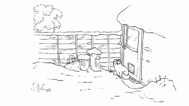 Simon's cat et la neige Partie 1
