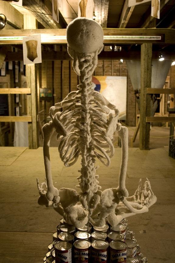 squelette en laine