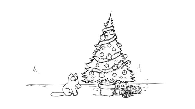 Simon's cat sapin Noel
