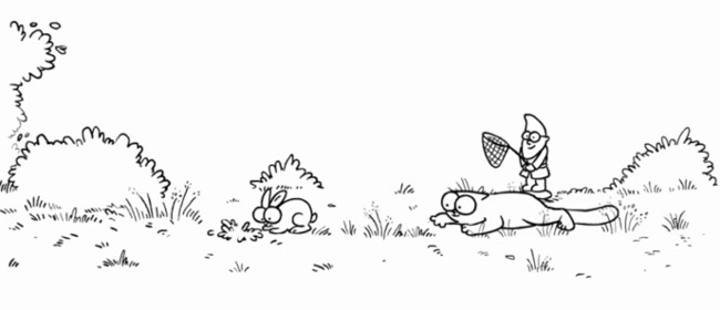 Simon's Cat et le lapin