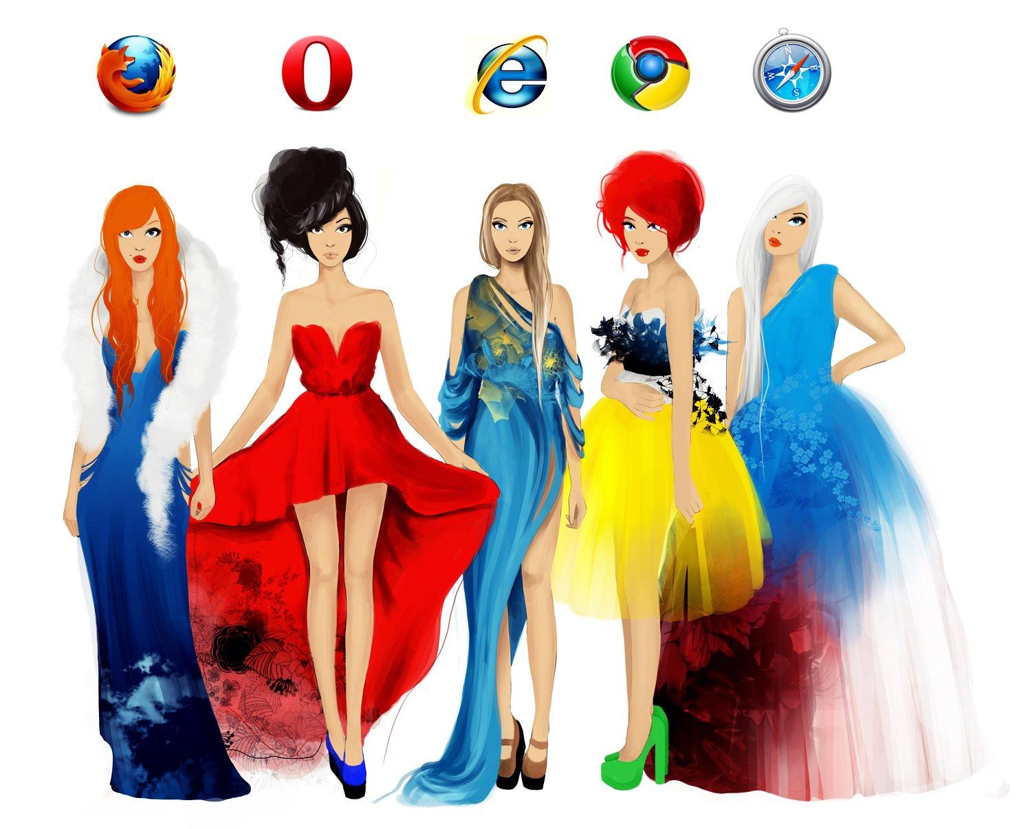 filles navigateurs web