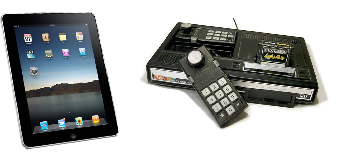 Differences entre ados de1982 et 2012 Colecovision vs iPad