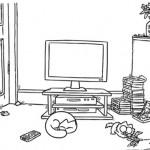Simon's Cat regarde la télévision