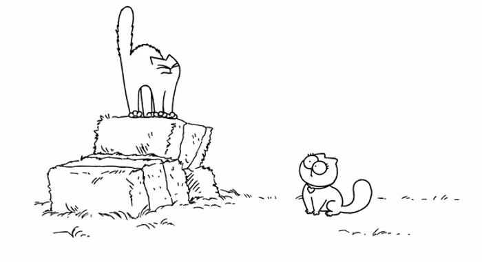 Chatte de Simon's Cat et Saint Valentin