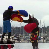 Le premier match d'hydro-boxe