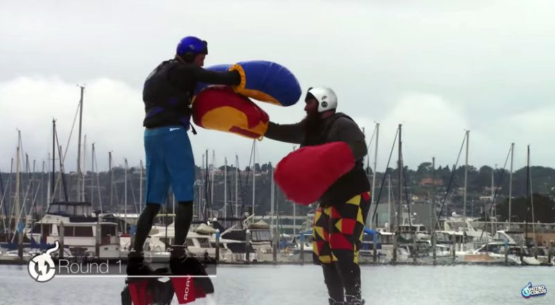 Le premier match d hydro boxe