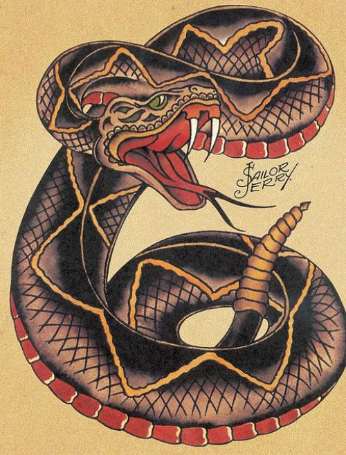 Signification Tatoo old school Serpent