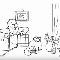 Simon's cat et la boîte de transport