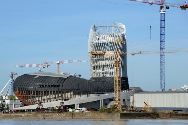 Cité du vin Bordeaux chantier