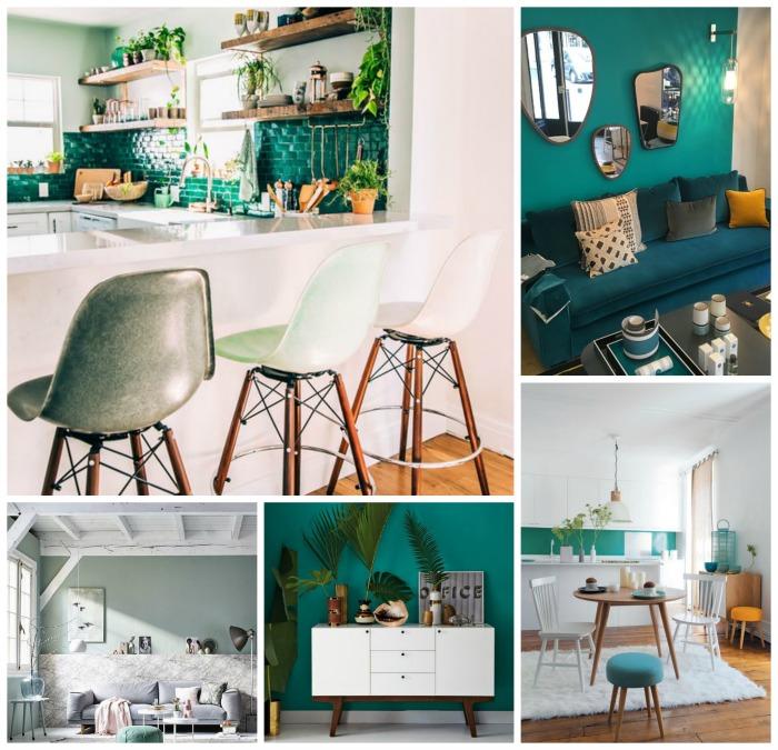 D co scandinave et couleurs for Decoration vert d eau