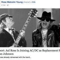 Axl Rose nouvelle voix de AC/DC