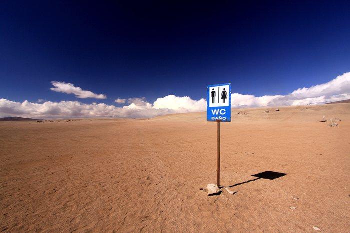 les toilettes du désert bolivien