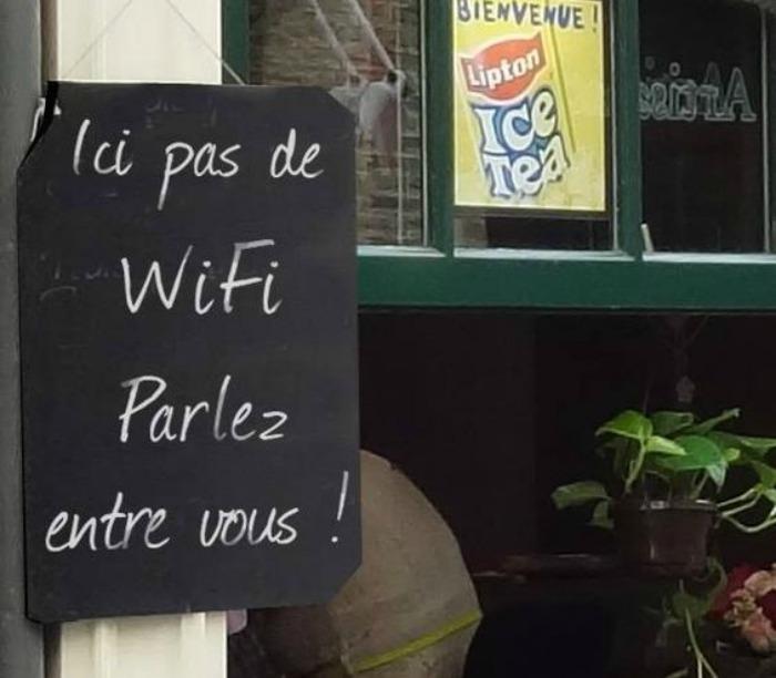 Ici pas de wifi ni smartphone