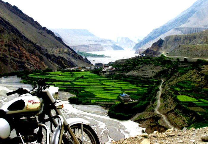 Le Népal en moto
