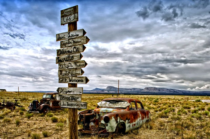 Route 66 panneaux