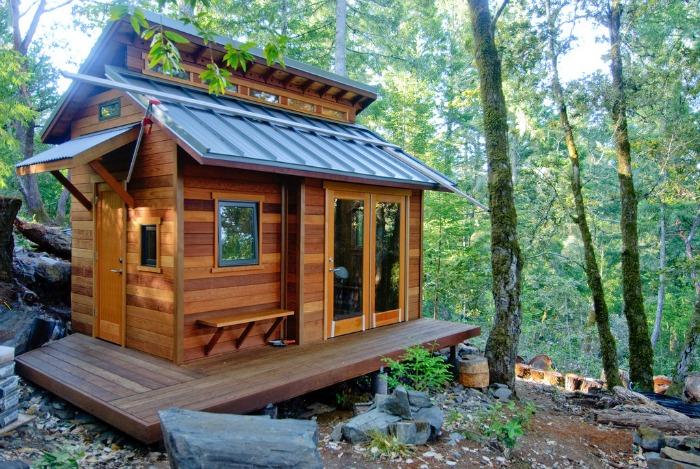 tiny house en forêt