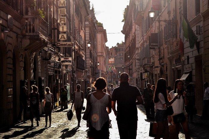 Marcheurs en ville