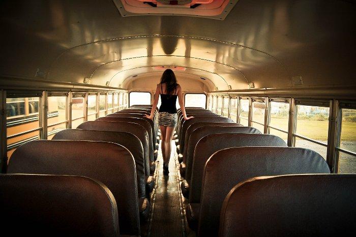 Intérieur d'un autobus
