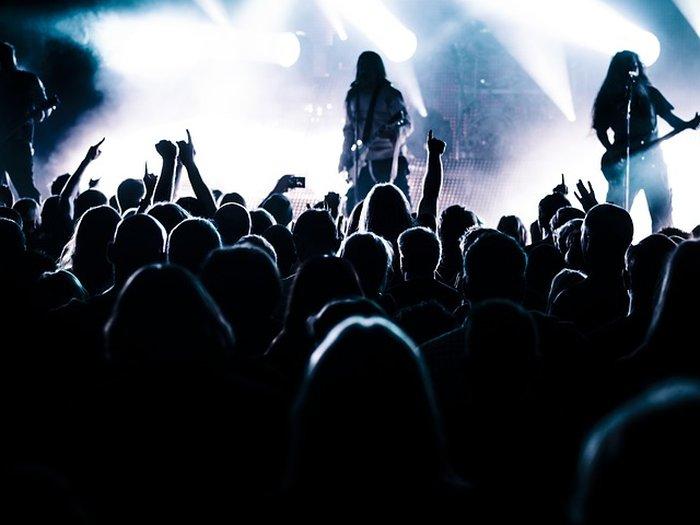 Groupe de rock punk metal en concert